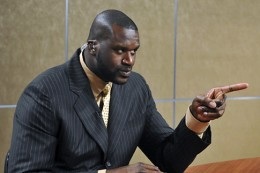 "Shaq curated ""Size Does Matter"" exhibit. (Long/AP)"