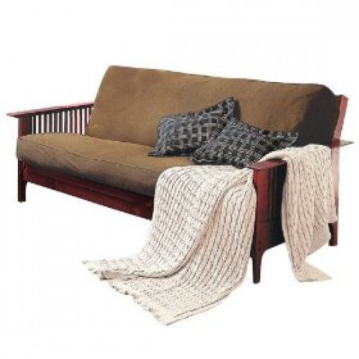 Brushed cotton twill futon slipcover