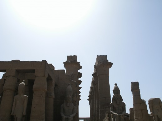 The entrance to Karnak Temple