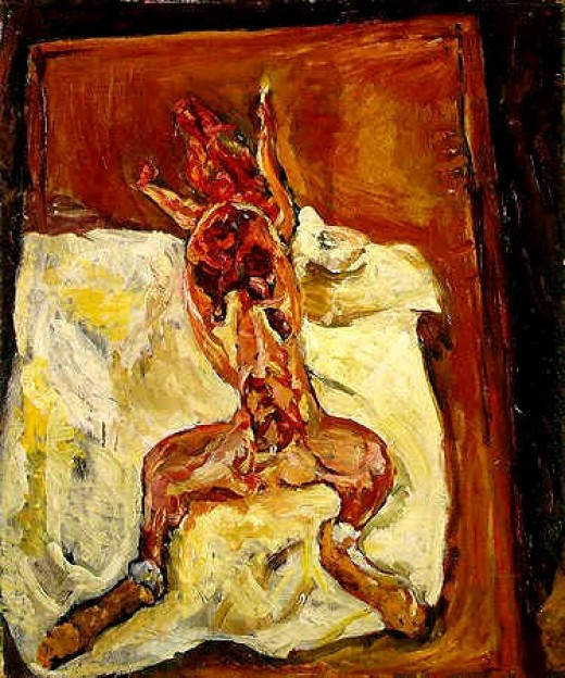 Soutine, Flayed Rabbit, Barnes Collection