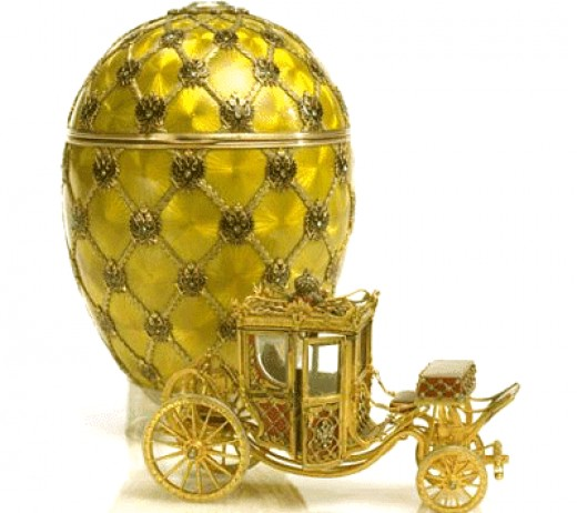 Faberge egg/clock sold at auction in 2007 for over 8.5 million pounds!