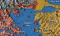 Map of Thessalonia