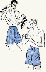 Do it yourself Boxers for the Handyman. So Easy Pattern........All Photos courtesy Flickr.