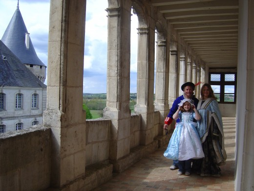 La Rochefoucauld Dress up in medieval costumes - great for the kids and fun for Mums and Dads too!