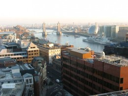 View of The Tower Bridge from the Monument
