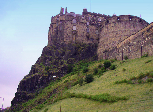 This is the REAL Edinburgh Castle in Scotland.