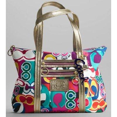 COACH Pop Art Poppy Tote Bag