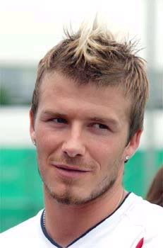 David Beckham's faux hawk