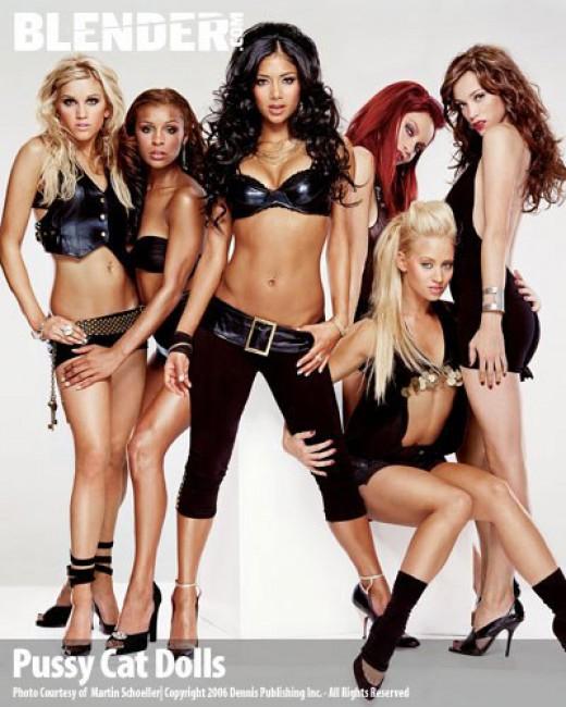 The six original members of the Pussycat Dolls