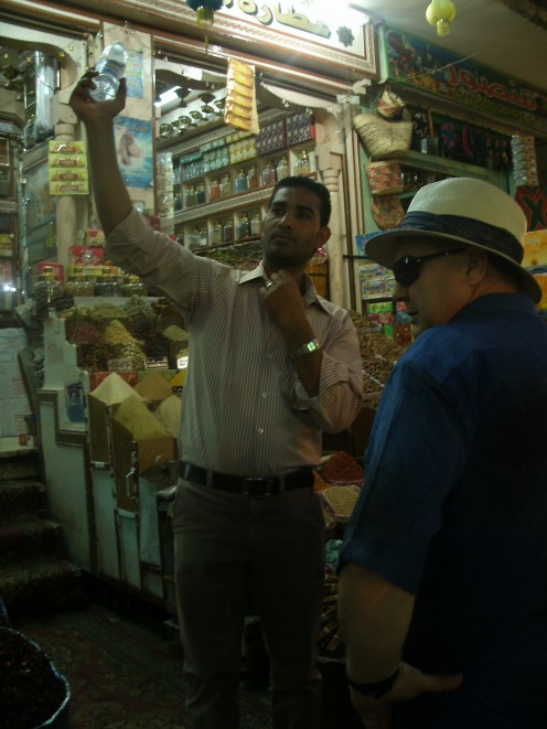 The statutory visit to the Spice market on the Aswan City Tour.