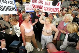 In recent years elderly citizens have been fighting for a decent living
