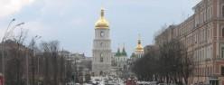 Looking towards St. Sophia's along Volodymyrska Street.