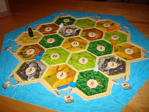 Sample Settlers of Catan board
