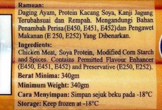 Food label   source:
