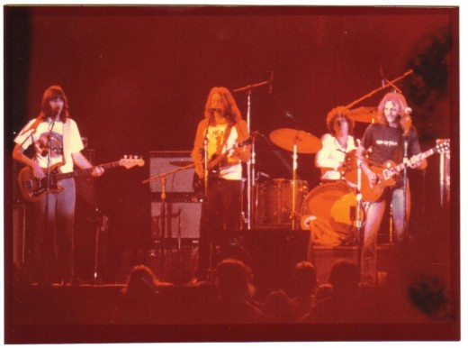The Eagles at the Univ. of Cincinnati in the early 70's. I'm not sure of the exact year but it was while Bernie Leadon was still with them and Don Henley sported that cool afro:) (pre Joe Walsh).