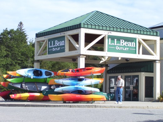 The LL Bean outlet in the town of Ellsworth.