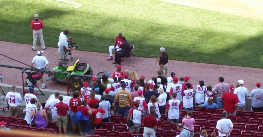 A pre game interview with Reds manager Dusty Baker