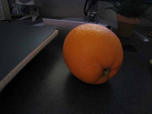 This Plastic Orange Looks Like the Real Fruit