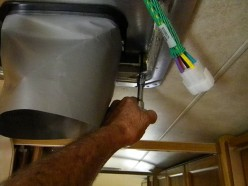 Installing the duct and attaching new ceiling flange