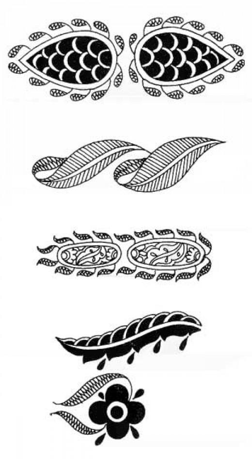 simple mehndi patterns