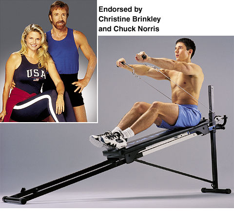 Chuck Norris recommends total gym to get chicks.