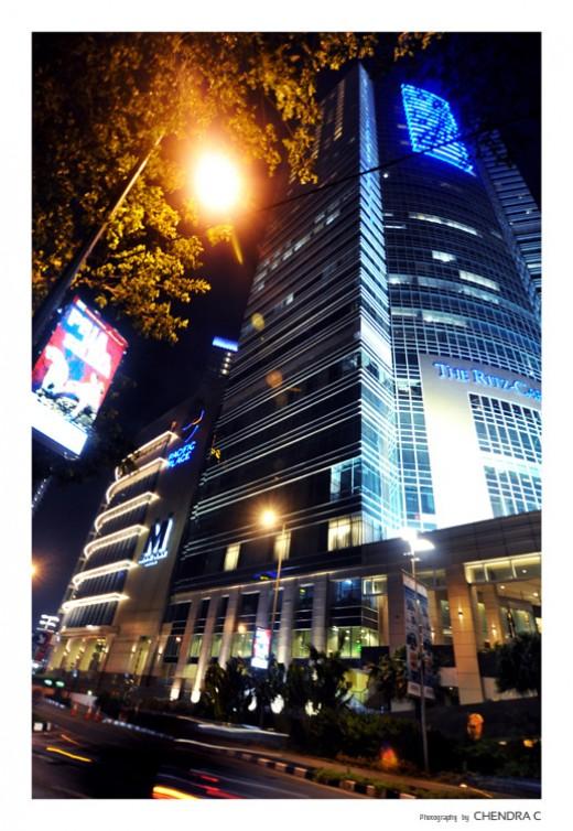 The architectural design of Ritz Carlton hotel in Jakarta