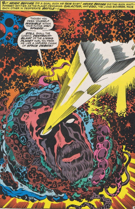 Hailed as one of the Greatest Villain Battles of ALL time. Galactus vs EGO (& Thor). The Planet Eater vs the Living Planet.