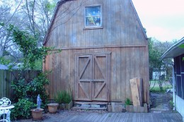 Our 'Big Shed'... It's taller than the house!