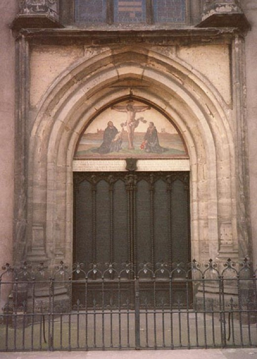 WITTENBERG CHURCH DOORS WHERE MARTIN LUTHER NAILED HIS 95 THESES