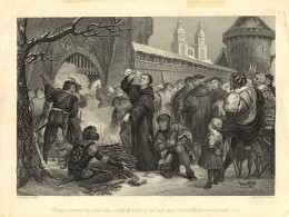 MARTIN LUTHER BURNS PAPAL BULL
