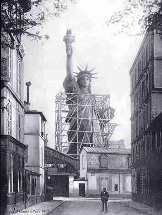 Statue of liberty first delivered
