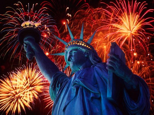 Statue of liberty clebration