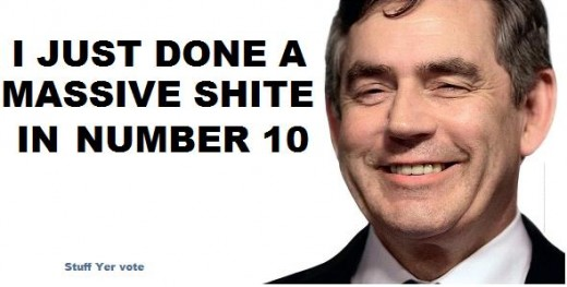 Gordon Brown tory poster campaign massive shite