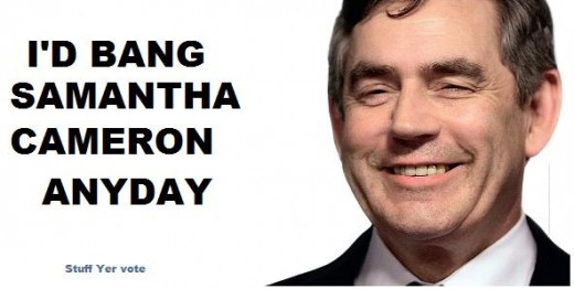 Gordon Brown tory poster campaign Samantha Cameron