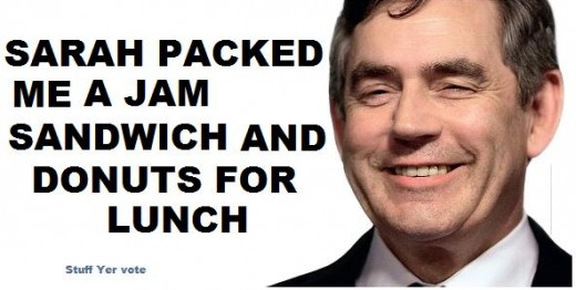 Gordon Brown tory poster campaign donuts