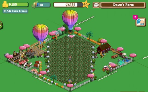 FarmVille Pic of my farm...so far.