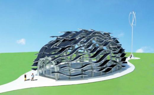 Wind-Powered Eco Wine Pavilion