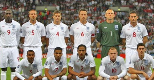 England World Cup Football Team