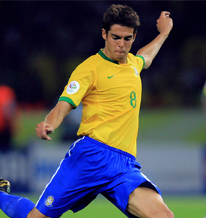 Ricardo Izecson dos Santos Leite, better known as Kaka, Brazil
