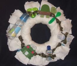 Gender Neutral Diaper Wreath