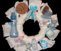 Sports Diaper Wreath