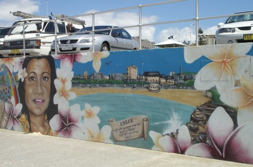Memorial to Chloe, a Victim in the Bali Bombings. Bondi Beach, Sydney.