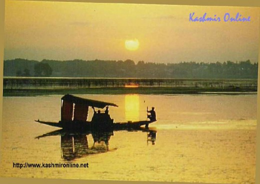 Dal lake at sunset - the pride of Kashmir Valley