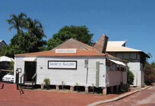 Corrugated iron - The Ubiquitous Aussie Medium of Expression.  Short Street Gallery, Broome, WA.