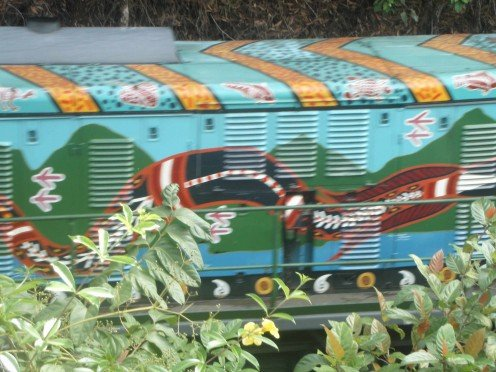 Painted Train. Kuranda, Qld.