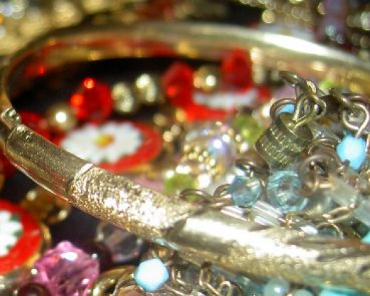 Silver bracelets look great with any color, so you can still wear colorful beads.