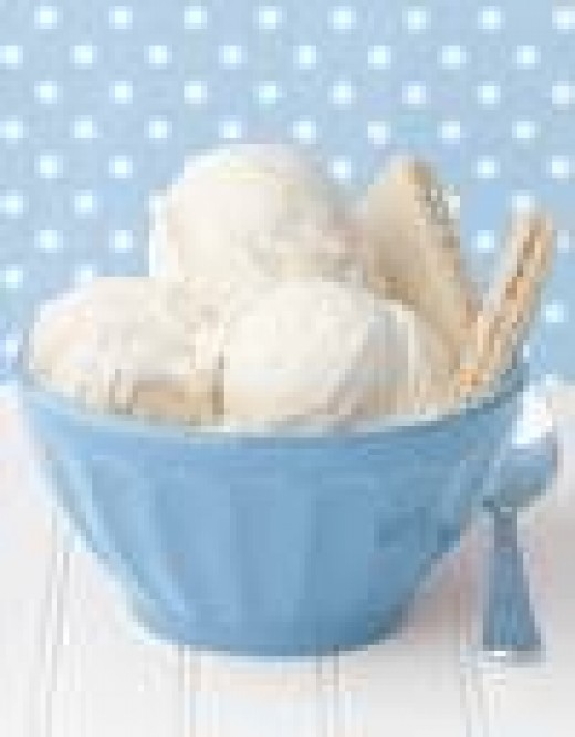 Purified vanilla ice cream.