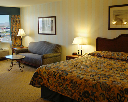 Standard room a the Orleans Hotel and Casino in Las Vegas Nevada