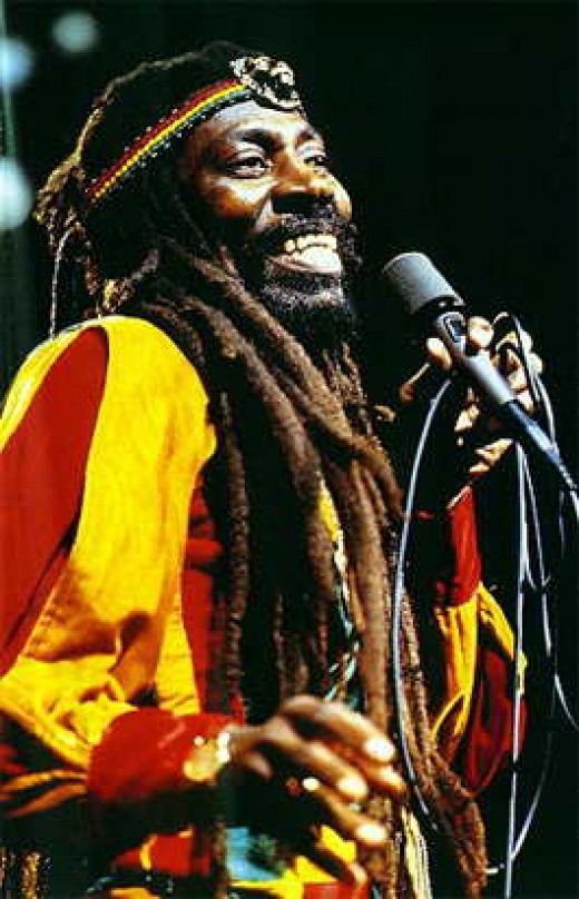 Bunny Wailer who worked with Bob Marley seen here in Concert