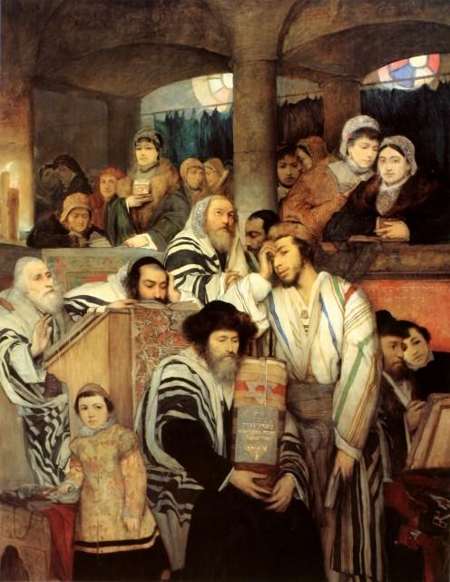 Praying in the Synagogue on Yom Kippur